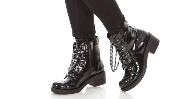 Damen Boots Schwarz