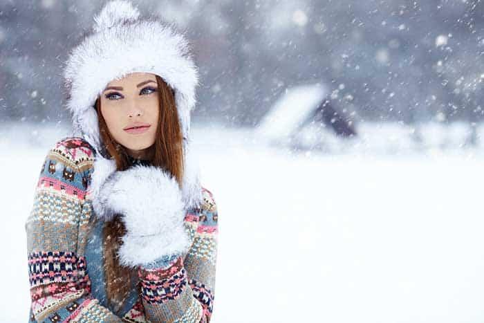 Farbe auch in der Wintermode © depositphotos.com